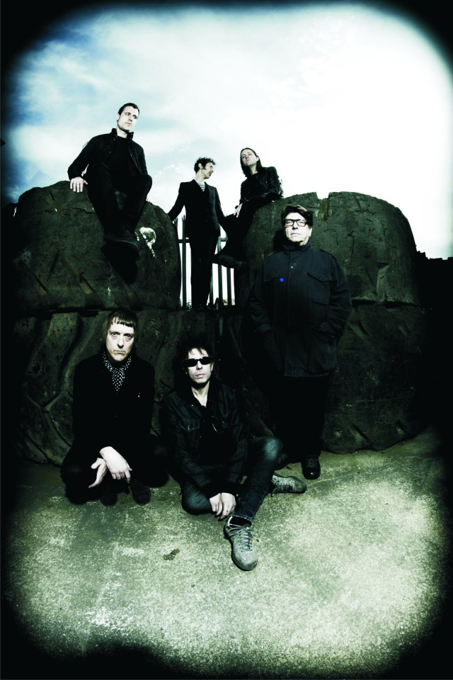 Meteorites' Impact: Will Sergeant, far right, and Ian McCulloch, centre/front, with the current Bunnymen line-up