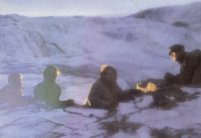 Snow Way: Echo and the Bunnymen take to the cold cabinets of Iceland for the Porcupine promo shoot