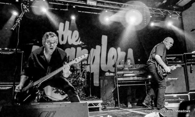 Marching On: JJ Burnel and Baz Warne up front for the Stranglers (Photo: Warren Meadows)