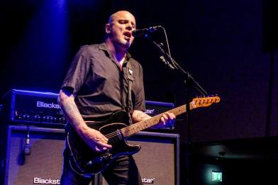 Big Fan: Baz Warne in action at Cardiff on The Stranglers' March On tour (Photo: Warren Meadows)