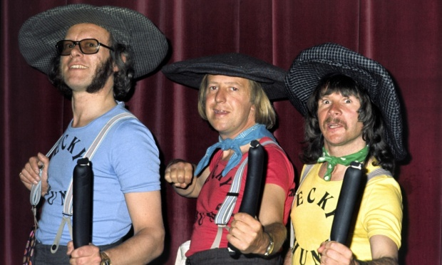 Cap That: The Goodies - from the left: Graeme Garden, Tim Brooke-Taylor, Bill Oddie (Photo: Andre Csillag/Rex Features)