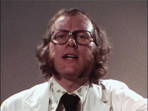 White Coat: Graeme Garden, complete with '70s sideburns