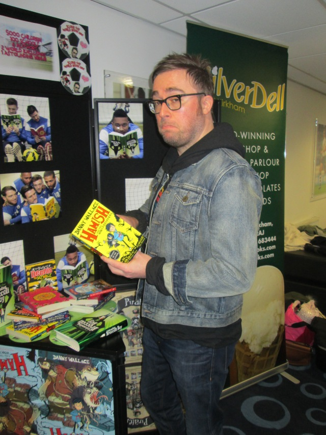 Reading Matters: Danny Wallace casts a quizzical eye over his first children's book (Photo: Malcolm Wyatt)