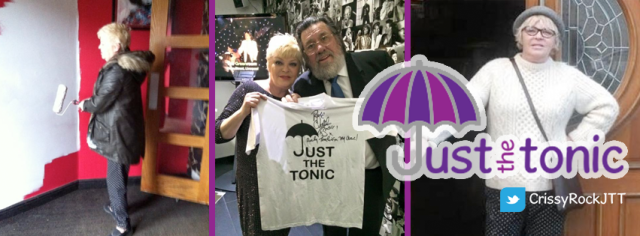 Charity Project: Crissy joining forces with Ricky Tomlinson as part of her work for Just the Tonic (Photo: https://www.facebook.com/crissyrockjustthetonic?fref=nf)