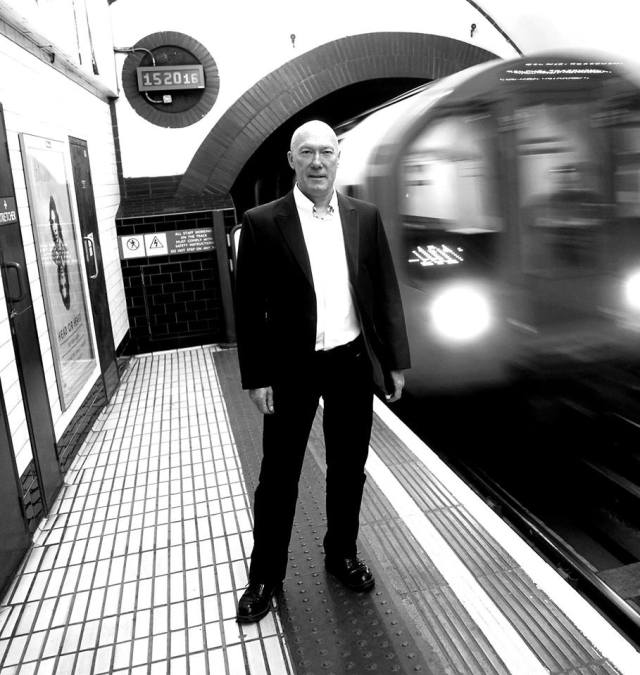 Going Underground: Rick Buckler, down in the tube station (Photo: Tony Briggs)