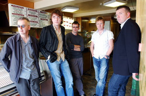 Chips Again: The Undertones' second coming - from left, John, Paul, Dee, Billy, Mickey