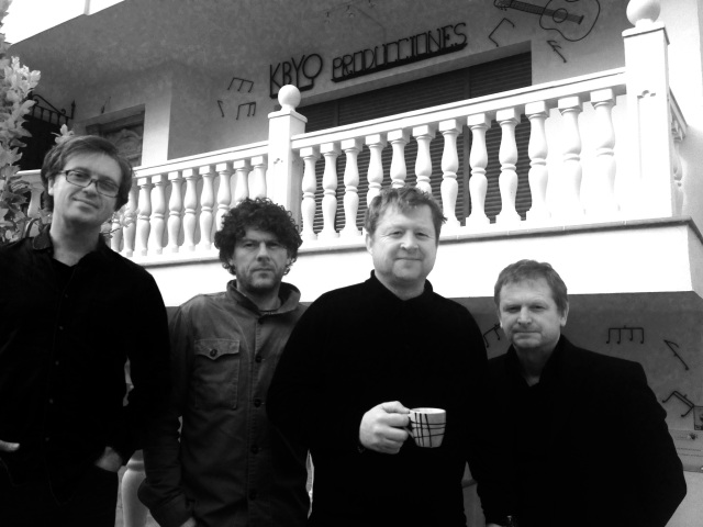 Back Again: Milltown Brothers in Spain during the recording of the new album, Long Road, with Barney missing, presumed brewing up