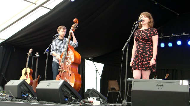 Live Treatment: Dan, on double bass, and Polly out front