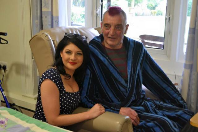 Hospice Visit: Lucy during her first visit to St Catherine's Hospice in Lancashire
