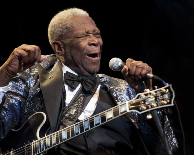Blues Legend: BB King with his beloved Lucille