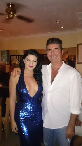Simon Says: Lucy Kay with BGT creator and judge Simon Cowell