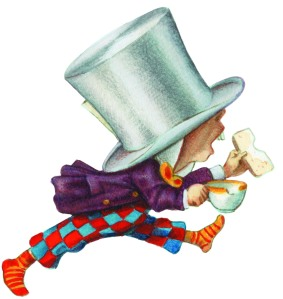 Hat's Entertainment: The Mad Hatter strides out (Copyright: Alice's Adventures in Wonderland: Illustrations © Macmillan 1995)