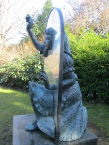 Bronze Tribute: Jeanne Argent's 1990 Alice sculpture in Guildford's Castle Grounds (Photo: Malcolm Wyatt)