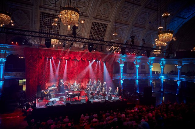 Empress Impressed:  Jools Holland's band in action in Blackpool (Photo: BBC)