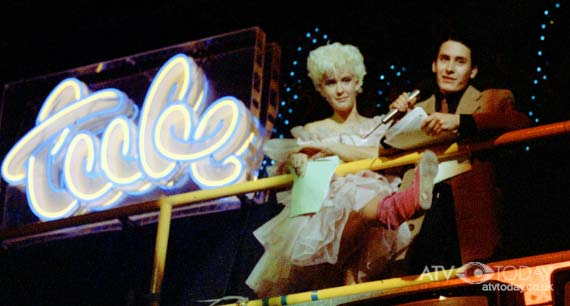 Tube Station: Paula Yates and Jools Holland on the set of Channel 4's The Tube