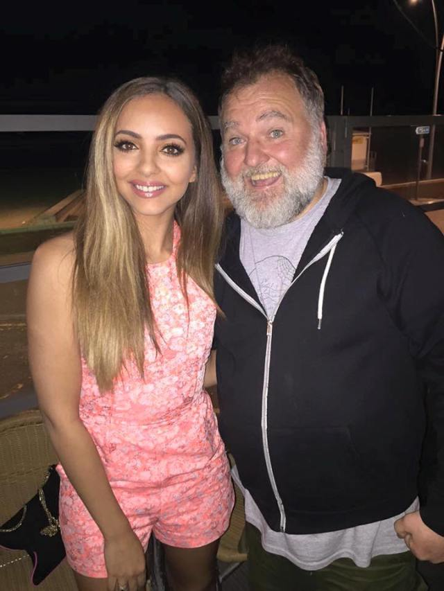 Selfie Time: Mathew poses with Jade from Little Mix in South Shields