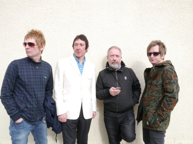 Show Buzzness: Buzzcocks, 2015 style. From the left:  Chris Remmington, Steve Diggle, Pete Shelley, Danny Farrant