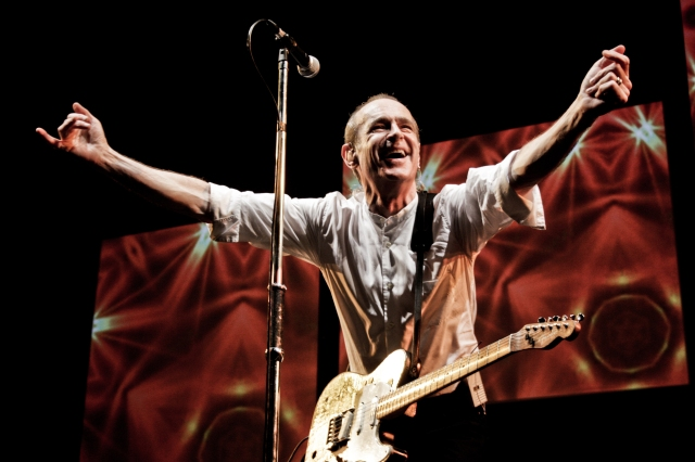 Saint Francis: Mr Rossi leads the singing as rock legends Status Quo get down down