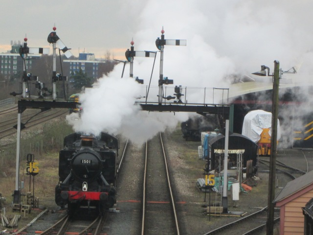 Severn Heaven: The blogger was chuffed to be back in Kidderminster, taking a brief wander by the Severn Valley Railway to spot a GWR 0-6-0 pannier tank steam loco before his afternoon at Aggborough (Photo: Malcolm Wyatt)