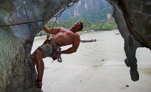 Hanging Around: Steve Backshall prepares to escape further questioning from this blogger (Photo: http://www.stevebackshall.com/)