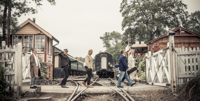 Crossing Over: Squeeze enjoy a day out at the Kent & East Sussex Railway in Tenterden (Photo: Rob O'Connor)