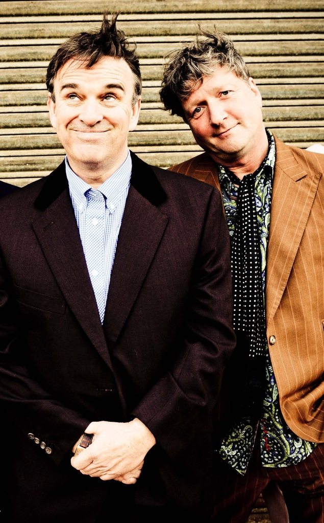 Dynamic Duo: Chris and Glenn Tilbrook ham it up (Photo: Danny Clifford)