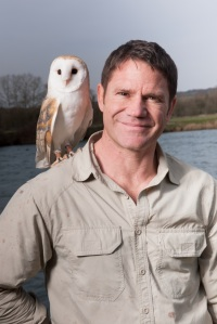 Owl's That: Steve Backshall and a feathered friend prepare to tour