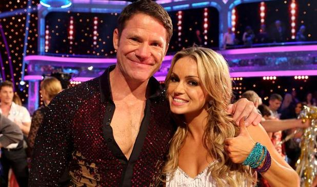 Hello Ola: Steve Backshall, not in the standard rainforest clobber, with his 2014 Strictly Come Dancing professional partner Ola Jordan (Photo: BBC)