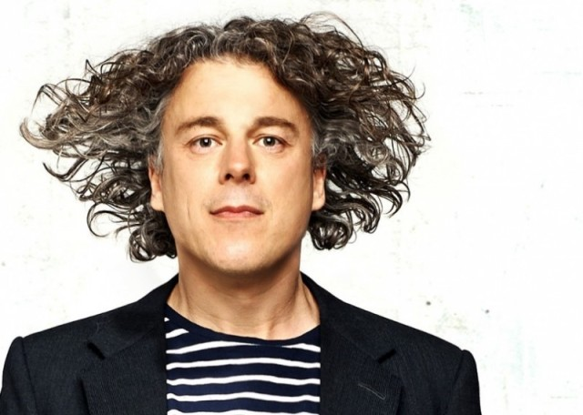 High Flier: Alan Davies is heading out again for the final leg of his Little Victories tour