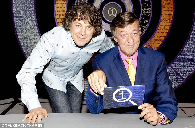 Quite Interesting: Alan Davies and host Stephen Fry on the QI set (Photo: BBC)