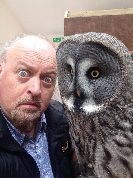 Owls That: Bill and a friend, having a hoot