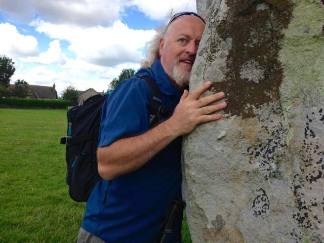 Ridgeway Rambler: Bill at the end of his Ridgeway charity walk in late July. For more details head to https://www.justgiving.com/sponsorBillBailey