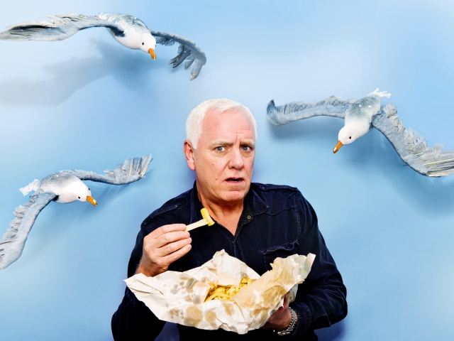 Mister Chips: Dave Spikey gets stuck in