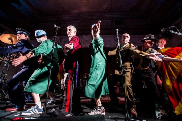 Dubious Dancing: Monty, third left, and co. live in 2014 (Photo: Ashley Jones)