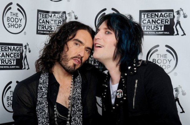 Goth Detectives: Russell Brand and Noel Fielding (Photo: http://www.teenagecancertrust.org/)