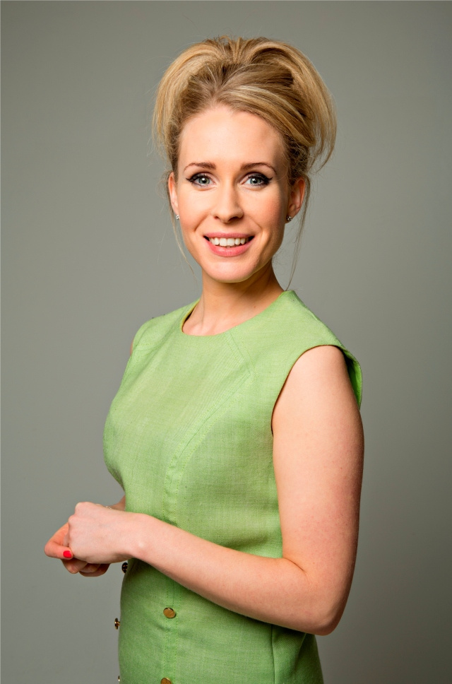 Mamma Mia: Lucy Beaumont has just let her mother know she's arrived