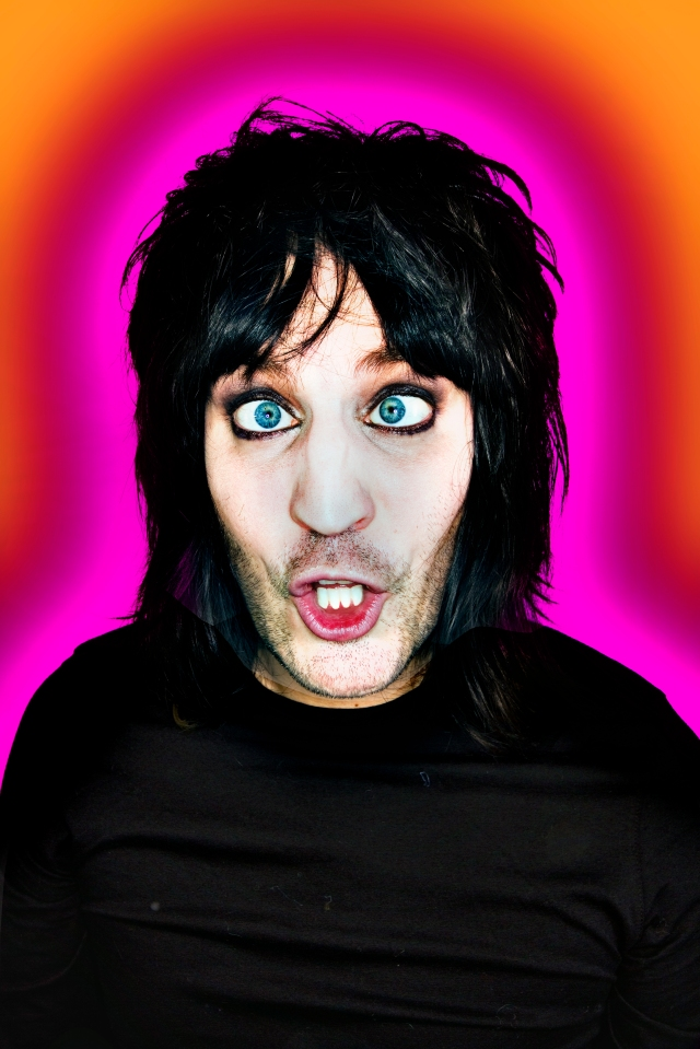 Totally Wired: Noel Fielding is plugged in (Image: Dave Brown)
