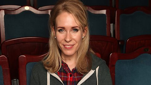 Theatrical Links: Lucy Beaumont takes a seat (Photo: BBC)