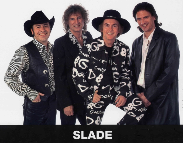 Four Play: Slade, 2015 style. From the left - Mal McNulty, Don Powell, Dave Hill and John Berry