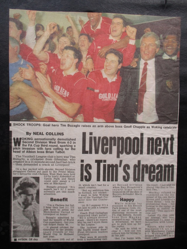 Merseyside Dream: More national adulation for Woking FC (Image from the writewyattuk archive, with proper credit to the original photographer and publication)