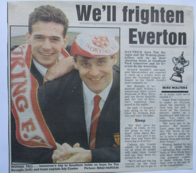 Cards Trick: Tim Buzaglo and Adie Cowler in the media spotlight (Image from the writewyattuk archive, with proper credit to the original photographer and publication)