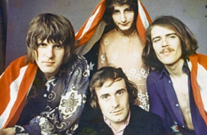The Nice: Keith Emerson, Lee Jackson, Brian Davison, David O'List (Photo from the private collection of Davy O'List, courtesy of http://www.slate.com/)