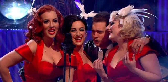 Buble Rap: The Puppini Sisters harmonise live with a certain Michael Buble