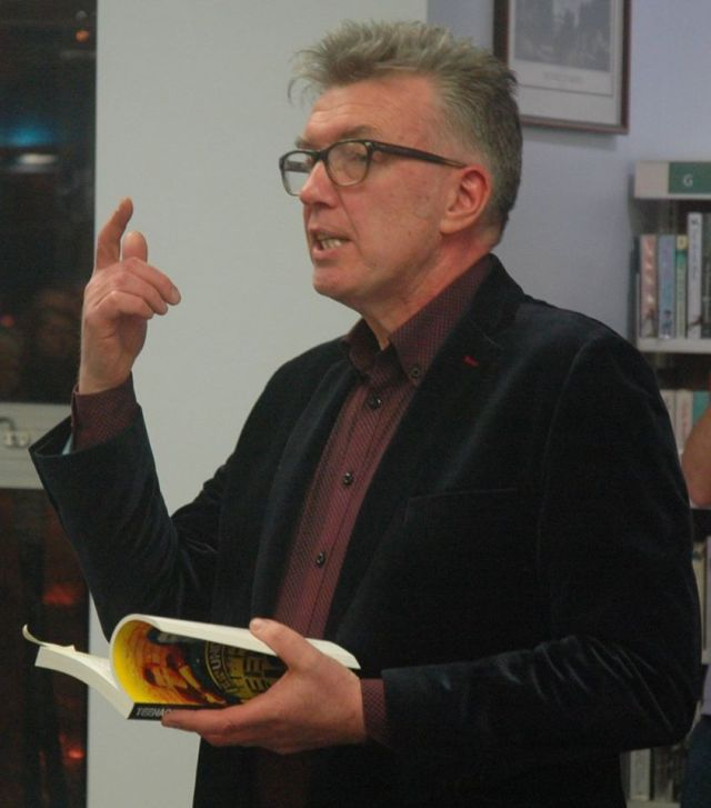 Listening In: Michael Bradley tells it as it is at Derry's Central Library (Photo: Vinny Cunningham)