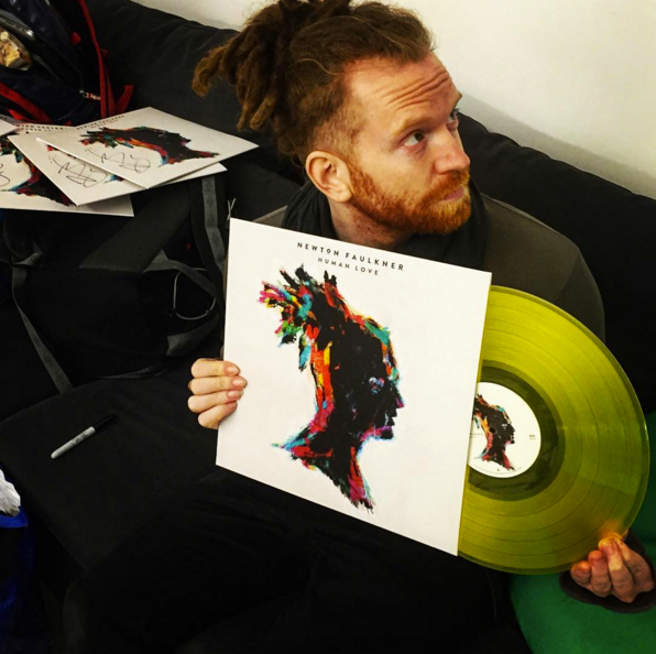 Golden Greats: Newton Faulkner shares a little Human Love via the power of vinyl (Photo: Newton Faulkner's Facebook page)