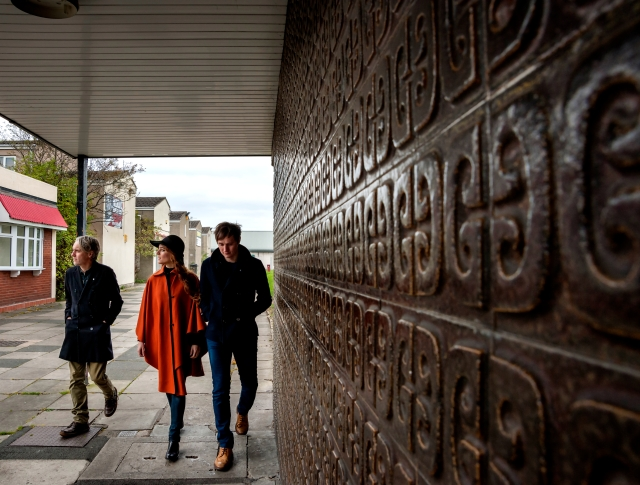 Passing Through: The Magnetic North take it to the underpass (Photo: McCoy Wynne)