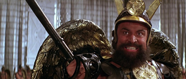 Prince Charming: Brian Blessed gets ready to ham it up as Prince Vultan in the 1980 film version of Flash Gordon