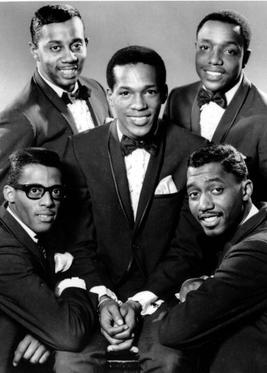 Truly Tempted: The Temptations, 1965 - David Ruffin (bottom left), Melvin Franklin (top left), Paul Williams (top right), Otis Williams (bottom right), and Eddie Kendricks (centre)