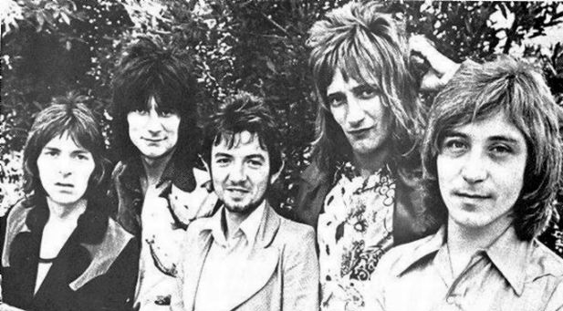 Eyes Open: From the left - the distinctive, distinguished Ian McLagen, Ron Wood, Ronnie Lane, Rod Stewart, Kenney Jones (Photo copyright: Tom Wright)