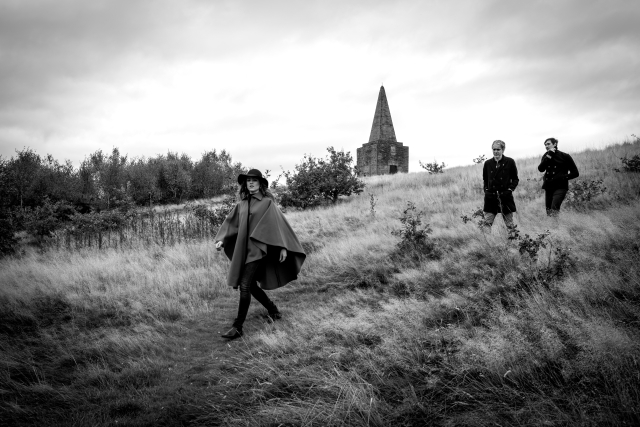Town Bound: Hannah Peel, Simon Tong and Erland Cooper head back to Skelmerdale from Ashurst's Beacon (Photo: McCoy Wynne)